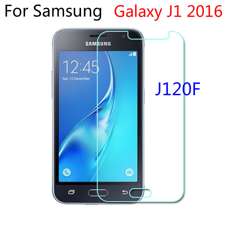 2.5D الزجاج المقسى لسامسونج غالاكسي J1 J120F 2016 SM J120F طبقة رقيقة واقية الهاتف المحمول لسامسونج J 120F 2016 J120F J120-في واقيات شاشة الهاتف من الهواتف المحمولة ووسائل الاتصالات على AliExpress