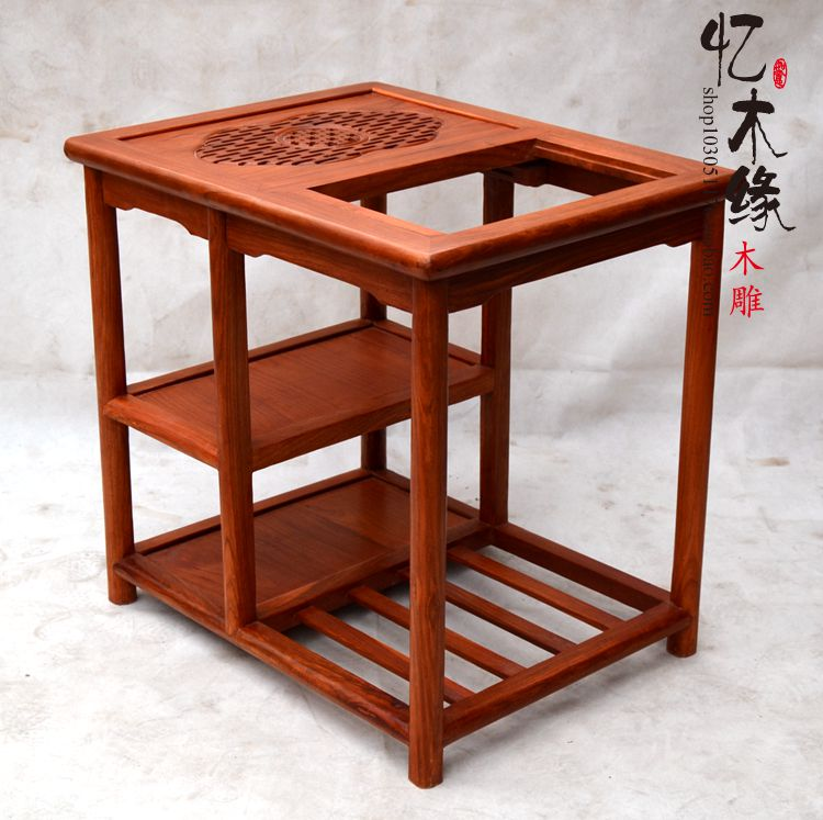 Chinese Antique Mahogany Wood Furniture Rosewood Chair Chair Three Piece  Tea Table Seat Palace Tea Table Combination In Brackets From Home  Improvement On ...