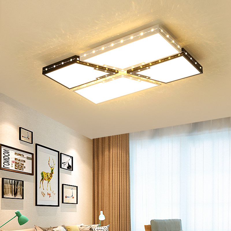 Modern LED ceiling light simple rectangle ceiling Lights for Living room Bedroom Office Ceiling Lamp dimmer luminaire plafonnier soft case back cover for xiaomi redmi 4 pro transparent