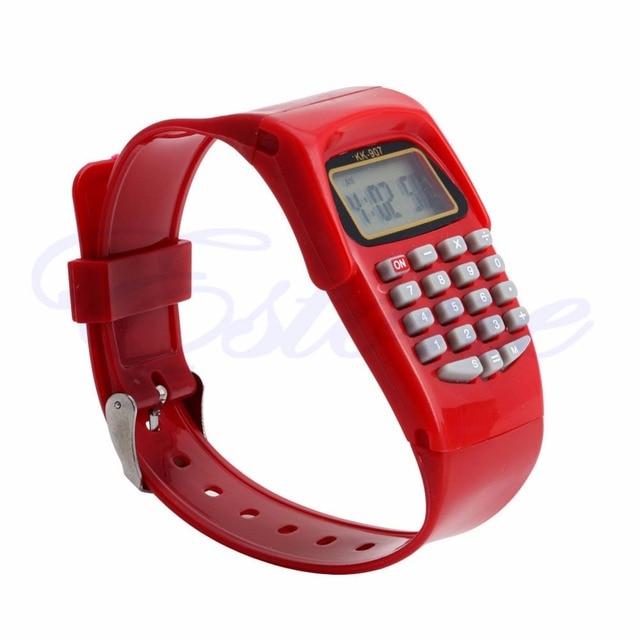 2018 Silicone Date Multi-Purpose Fashion Child Kid Electronic Calculator Wrist Watch