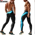 Mens Joggers Spliced Tight Ankle Sweatpants Spandex Running Tights Sports Leggings Fitness  Skinny Joggers Sport  training pants