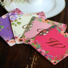 30pcs/lot Bronzing Creative Personality Wedding Invitation Envelope Color Flower Printing Card for Party