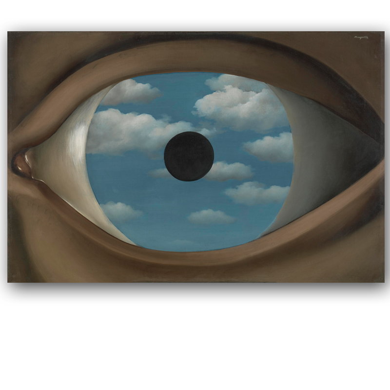 Achetez en gros magritte peinture en ligne des for Rene magritte le faux miroir