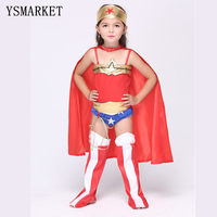 Halloween Superman Wonder Woman Children Party Cosplay Costumes Gift For Girls Clothes Children S Clothing Set