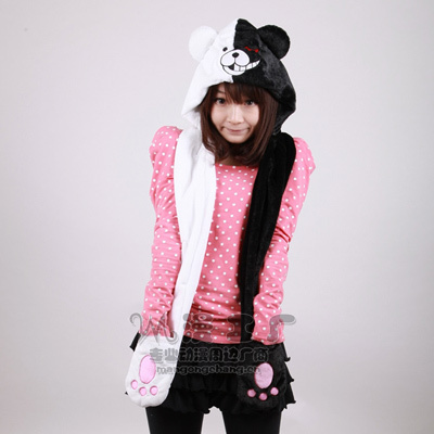160cm Danganronpa monokuma principal bear puppet scarf Hooded cartoon japan anime cosplay