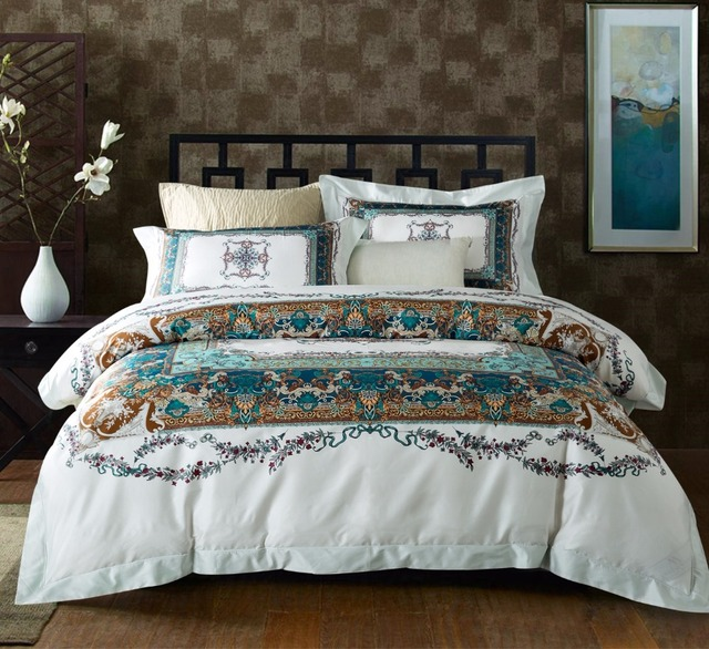 Bohemian Mandela Bedding Set 100s Tencel Egypt Cotton Queen King Size High Quality Bed Sets Duvet Cover Sheet Pillowcase