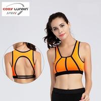 Cody Lundin Summer Women Running Vests Orange Female Sports Bra Breathable Comfortable Yoga Sportswear