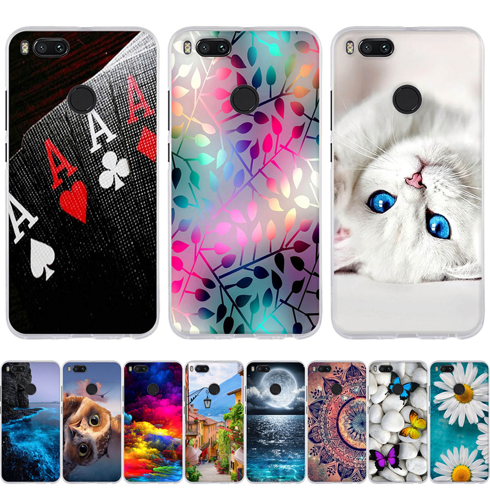 Para xiao mi a1 a2 caso 3d gato bonito padrão fundas coque silicone macio tpu para xiao mi a1 a2 lite caso do telefone a1 capa escudo