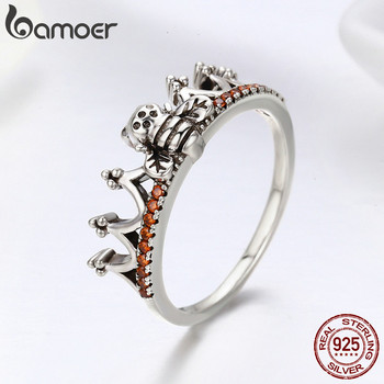 100% 925 Sterling Silver Bee in Princess Crown Ring 3