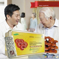 5 boxes Dietary Supplement Ganoderma Mushroom Red Reish Extract Vitamin +DHL, health care product