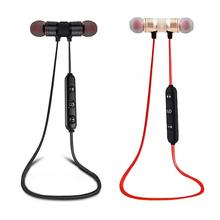 цена на Bluetooth Sports Music Fashion Earphone Magnetic In-Ear Stereo Sports Mobile Phone Universal Bluetooth V4.1 Headset
