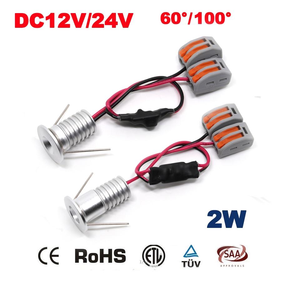 6PCS 2W 12V 24V Led Spotlight 20mm 180Lm 80Ra Mini Led Spot Lighting Art Led Lamp Hot Sale 2015