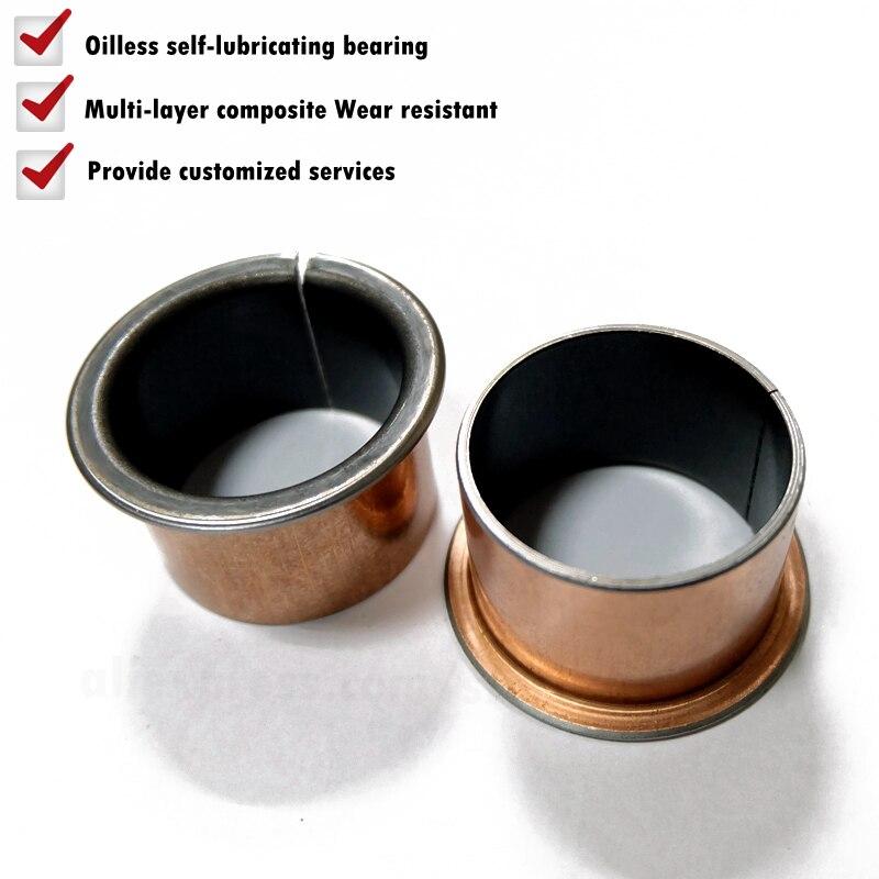 10pcs SF-1F 16100 Oil free lubrication 16×18×10mm flange bushing sleeve Bearing