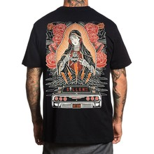 Sullen Mens Hopeloos T Shirt Zwart Virgin Mary Getatoeëerde Kleding Kleding(China)