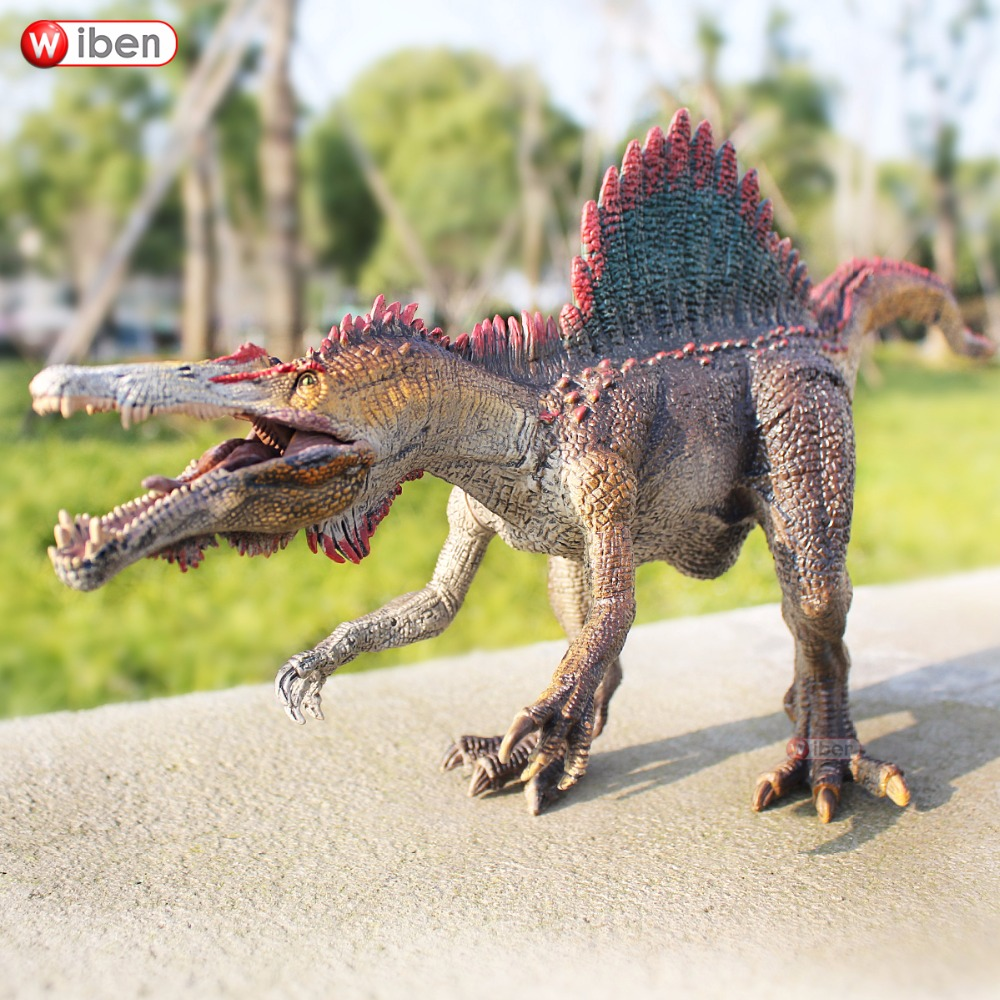 Wiben Jurassic Spinosaurus Dinosaur Toys Action Figure Animal Model Collection Learning & Educational Children Toy Gifts wiben jurassic acrocanthosaurus plastic toy dinosaur action