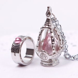 Puella Magi Madoka Magica Soul Gem Necklace Cosplay For Girls Crystal Necklace Jewelery Set #53124