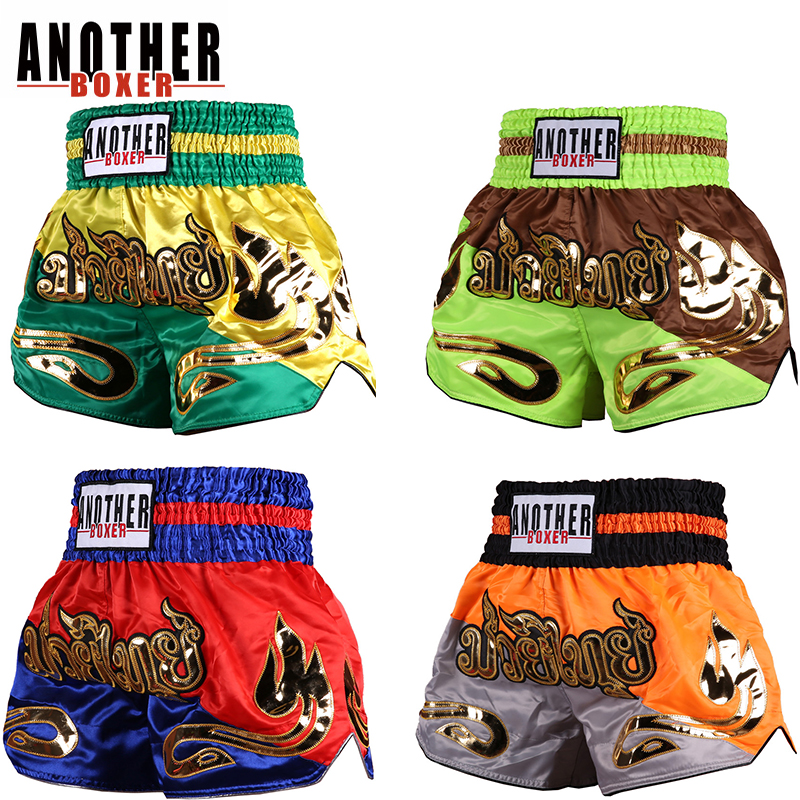 Anotherboxer Children Adult Muay Thai Boxing Shorts MMA Fight Training Grappling
