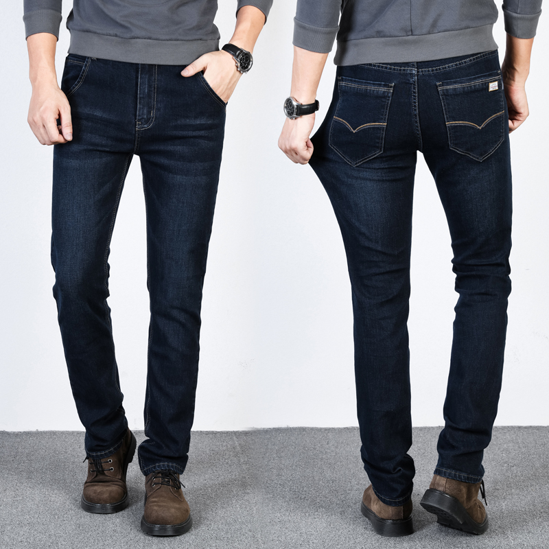 Brand 2018 mens jeans new fashion business casual Slim fit stretch denim jeans classic mens jeans trousers