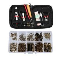 12pcs Jewelry Making Starter Kit Pliers Beading Tools Sets Findings Kit
