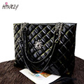 HISUELY New Fashion Diamond Women Shoulder Bag With Chain Female Tote Messenger bags Big Soft Bag BAGM6234