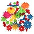 81 unids de los niños bloques de construcción de plástico juguetes para niños diy creativo de juguetes educativos de engranajes bloques juguetes para niños