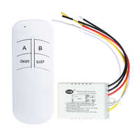 3 Port ON/OFF 220V Lamp Light Digital Wireless Wall Remote Control Switch Receiver Transmitter