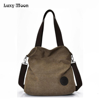 Canvas Bag Tote Women Handbags Canvas Shoulder Bags 2017 New Fashion Casual Messenger Bags High Capacity
