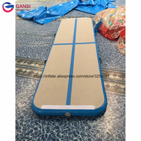New design 4*1*0.2m outdoor inflatable fabric gymnastics equipment tumbling gym mat for adult promotion inflatable air track