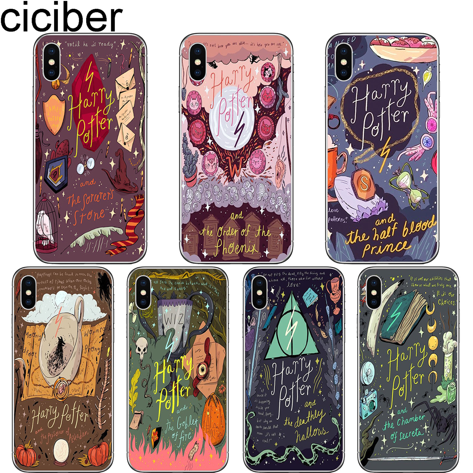 f74d64fbbf ciciber Harry Potter Hogwarts Soft Phone Cases Cover Telefoon Gevallen voor IPhone  6 6S 7 8 Plus 5S SE X XR XS Max Fundas Capa
