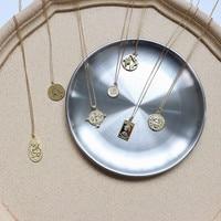Реальные 925 пробы Серебристые римские ожерелье с кулонами в виде монет Винтаж чокер, несколько слоев Kolye минималистский диск ожерелье с подв...