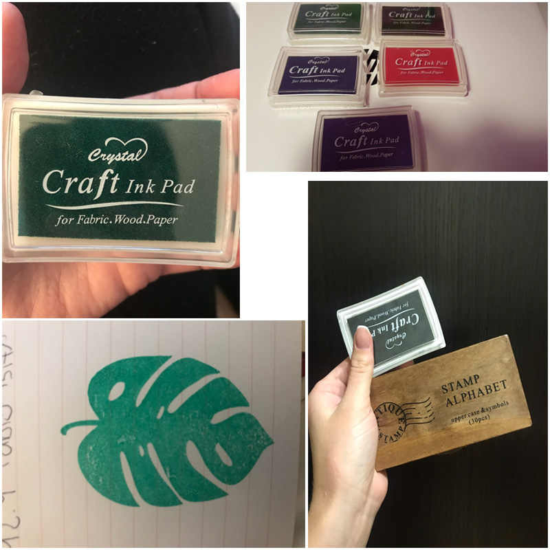 15 Colors Inkpad Handmade DIY Craft Oil Based Ink Pad Rubber Stamps Fabric Wood Paper Scrapbooking