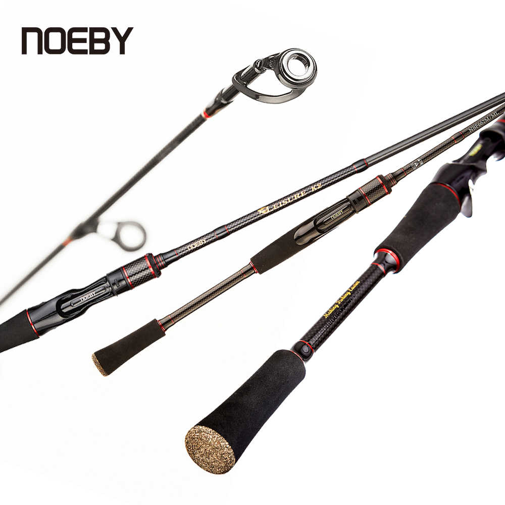 Noeby Spinning Rod 2 Top Tips Fishing for Beginner Fast Action 1.98m 2.13m 2.44m Casting 6-35g M/ML Power M/MH Lure