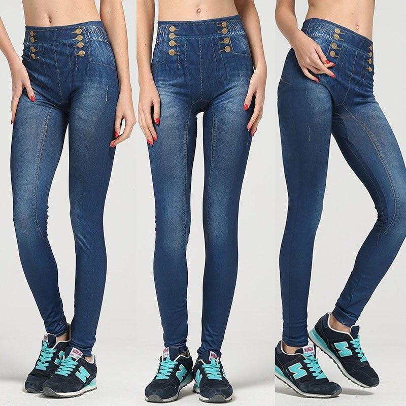 terbaru 2017 sexy wanita jeans pensil celana pinggang tinggi jins ramping elastis skinny