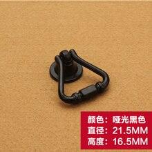 21.5 мм черный мебели сплава цинка шкаф ящик одной ручки