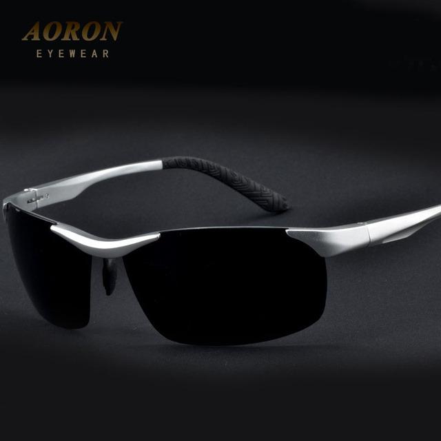 AORON Polarized Lens Marca dos homens Óculos De Sol Quadrado TR90 Óculos Motorista Óculos oculos de sol de Lazer Ao Ar Livre Esportes Óculos de Proteção