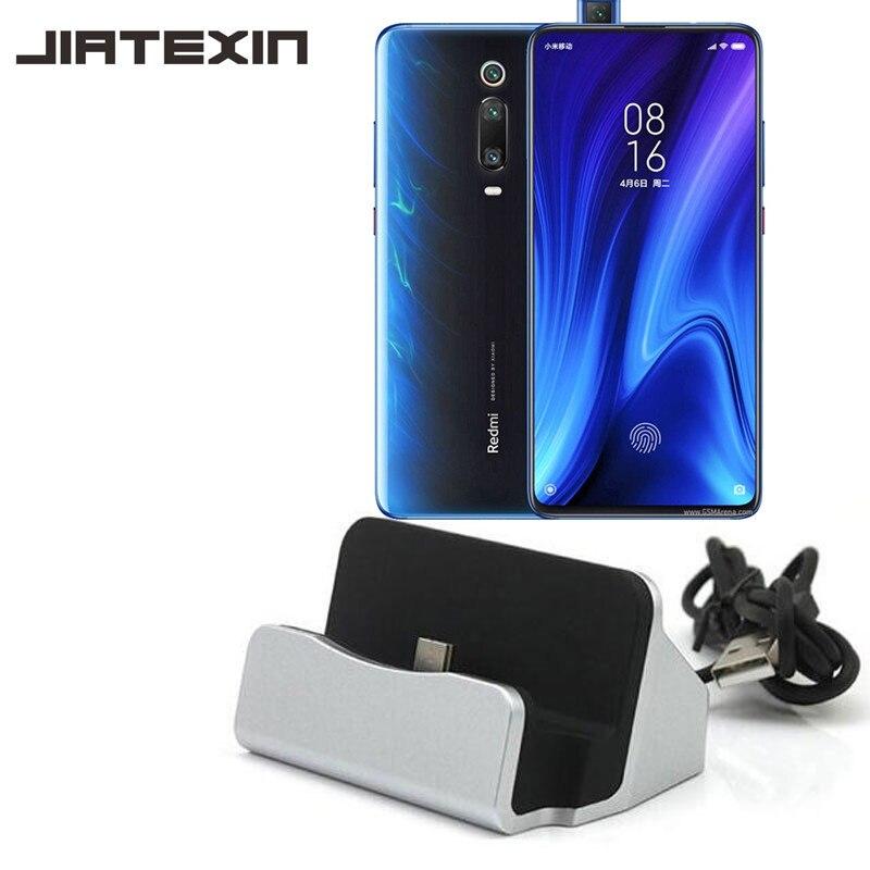 JIATEXIN pour Xiaomi Redmi K20/9 T synchronisation de données de bureau type-c USB câble chargeur Station pour K20 Pro/9 T Pro chargeur Dock adaptateur