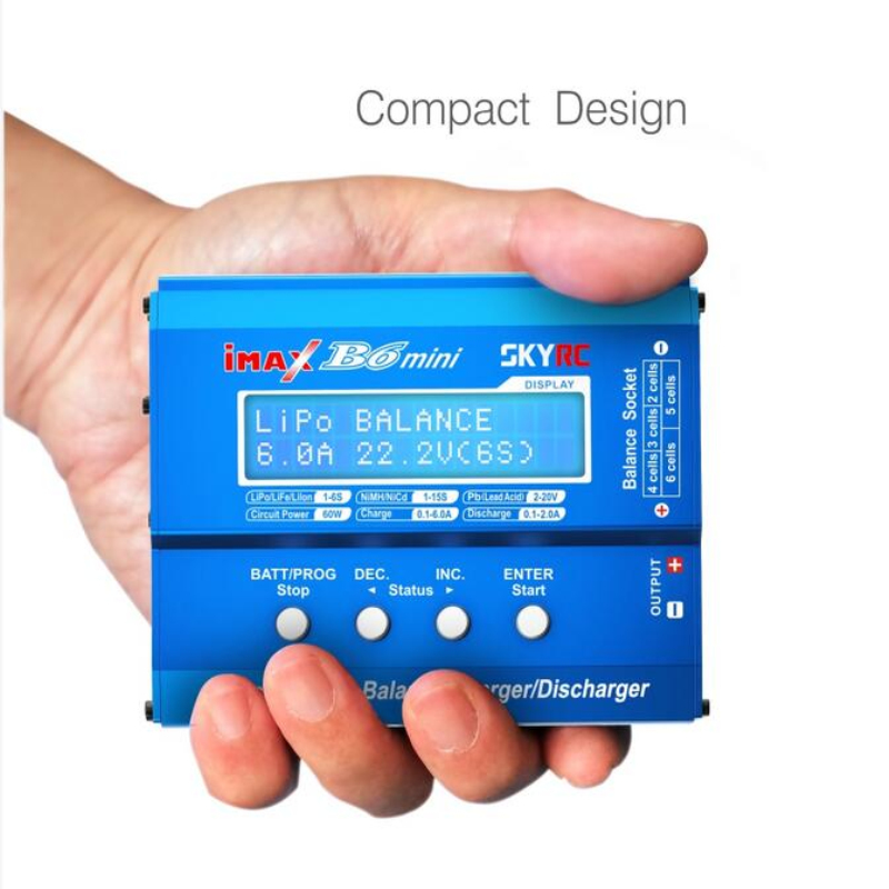 Original SkyRC iMAX B6 Mini Professional Balance NIMH/NICD Lipo Battery Charger/Discharger skyrc d100 2 100w ac dc dual balance charger 10a charge 5a discharge nimh lipo battery charger twin channel charge