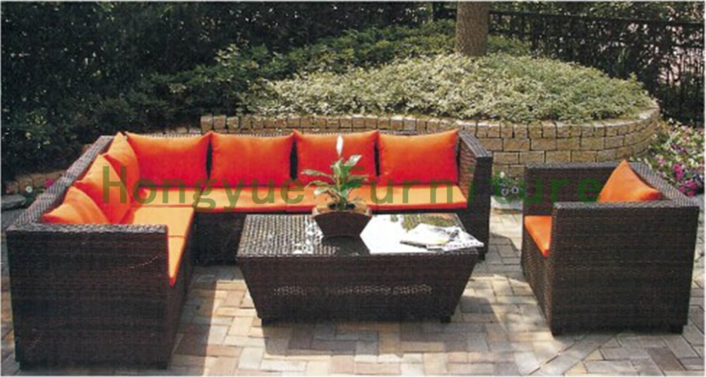Outdoor new pe rattan sectional sofa set supplier