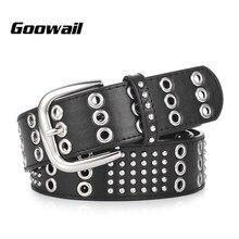 Goowail 2019 moda marca de lujo de alta calidad cinturones para las mujeres  remache punk estilo mujer cintos ceinture para Vaque. 3430e781e196