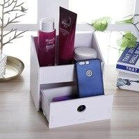 Modern Wooden Box Wooden Box Jewelry Cosmetic Holder Case Desktop Organizer Manual Wooden Box Desktop Sundries Storage Box