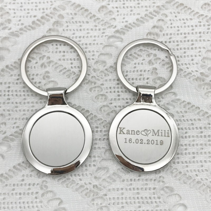 Clear Blank Keyring For Photo//Picture For Birthday Wedding Logo Family Gift Keys