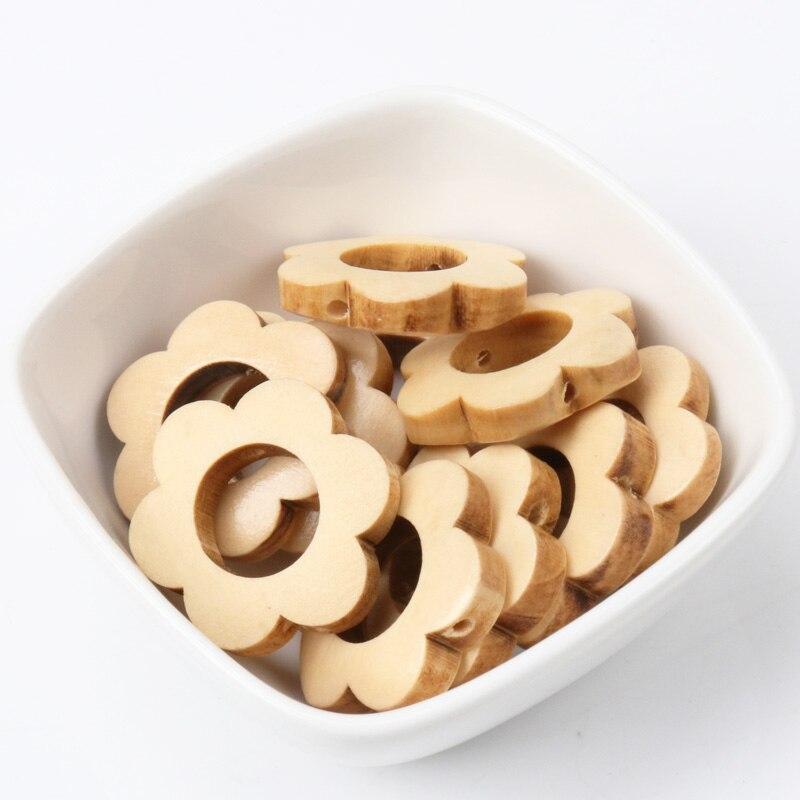 10 шт., деревянные разделительные бусины для самостоятельного изготовления ювелирных изделий, 26 мм
