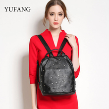 Yufang бренд Revit рюкзак для девочек-подростков натуральная кожа рюкзаки с Revits сумки модные женские школьный рюкзак мешок