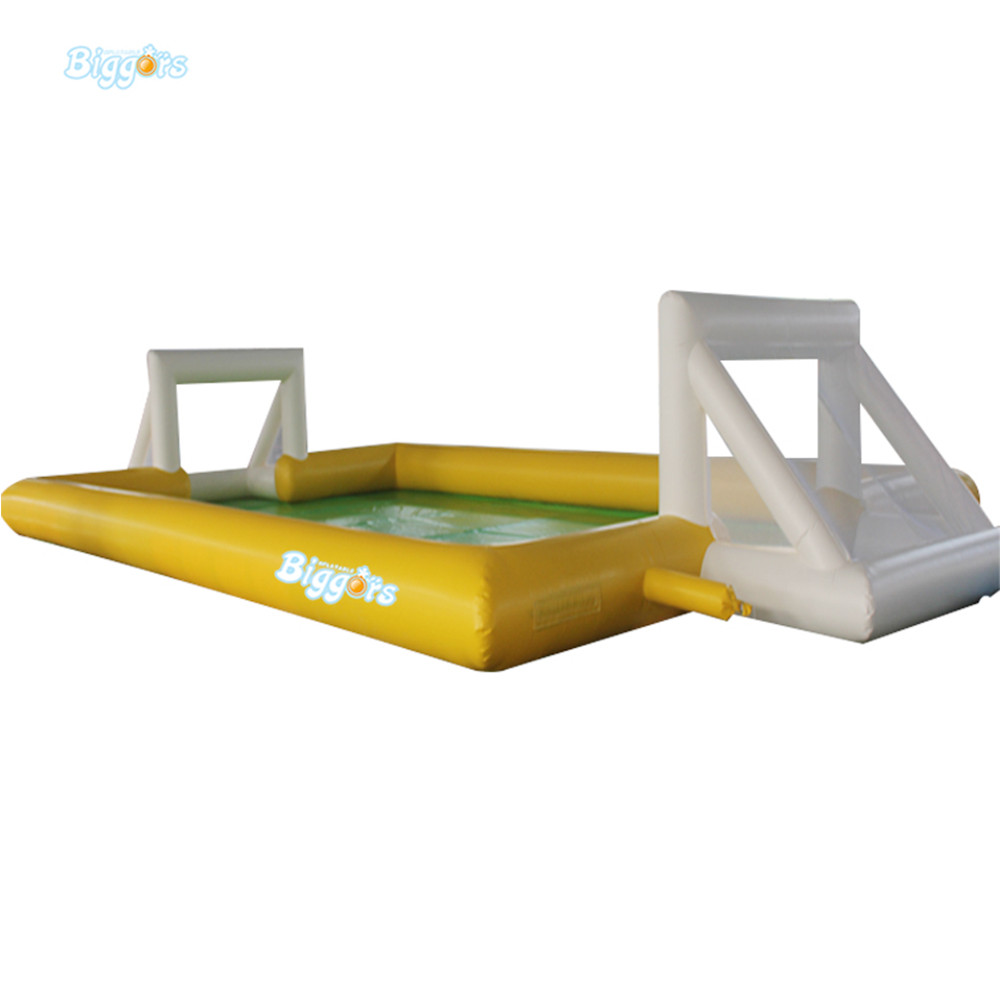 Sea Shipping Giant Commercial Inflatable Water Football Pitch Soccer Soap Field For Sale sea shipping giant commercial inflatable kids soccer court football field with blowers