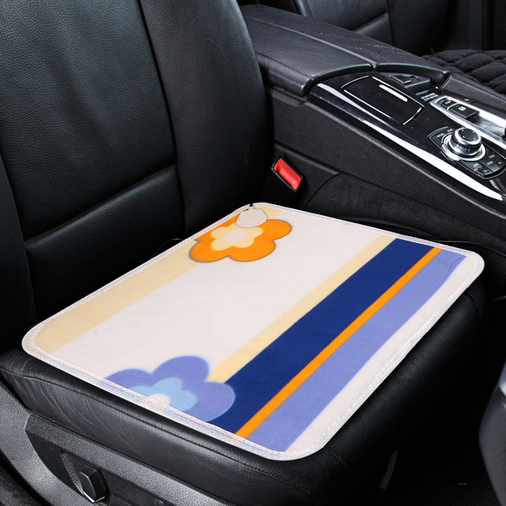 Universal 12V Heated Car Seat Cushion Cover Seat Heater Warmer Winter Household Cushion Cardriver Heated Seat Cushion 44x44cm