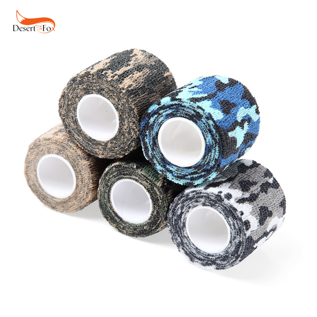 5 Color Camping Hunting Camouflage Stealth Tape Outdoor Sport Bionic Wrap Adhesive Nonwoven Fabric