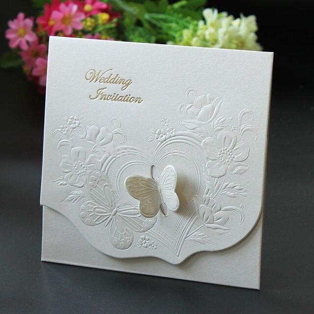 Set Von 100 Laser Cut Schmetterling Hochzeits Einladungen Schmetterling  Blumen Hochzeit Einladungskarten Hochzeitsmittelstücke