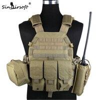 Tactical Vest 1000D With Three Pouches Of TMC 1893 Wholesale 6094 Tactical Vest CS Outdoor Vest