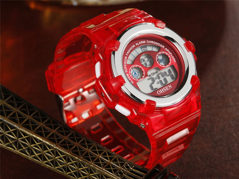 OHSEN Kids Watches Children Digital LED Fashion Sport Watch Cute Boys Girls Wrist watch Waterproof Gift Watch Alarm Kids Clock (24)