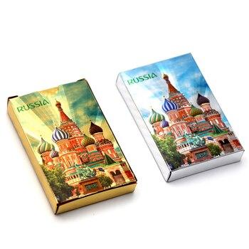 1 Deck 36 pcs Rússia 24 k da folha de Ouro de poker prego cartões De Poker De Plástico Jogando Cartas PVC Criativo À Prova D' Água durável cartões de jogo